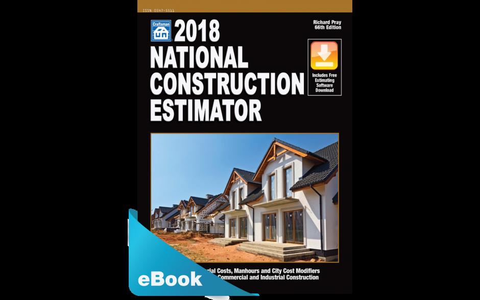 Image of 2018 National Construction Estimator downloadable estimating ebook