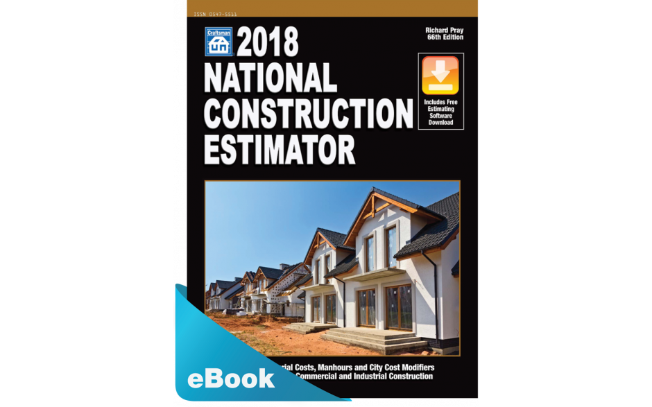 Image of 2018 National Construction Estimator downloadable estimating ebook