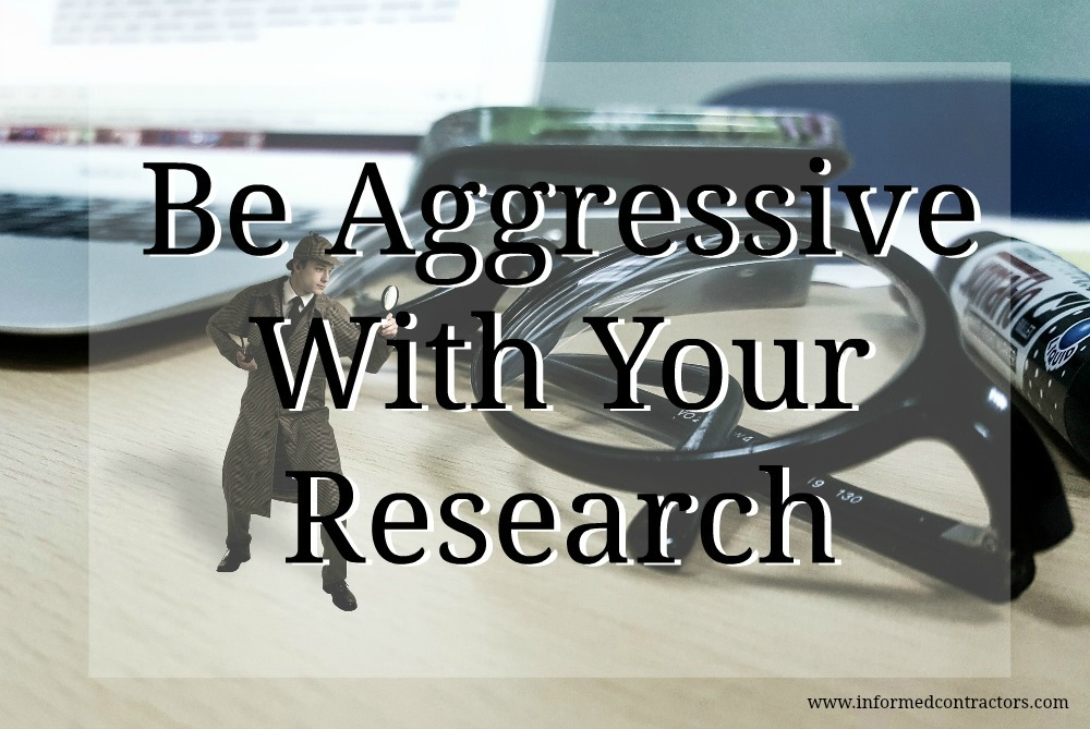 Image be aggressive with your research